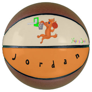 Personalized Fullsize Basketball- Happy Basketball