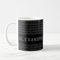 Personalized Fun and Cool Binary Code Pattern Coffee Mug