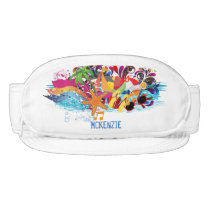 Personalized Fun Colorful Beach Fanny Pack Visor