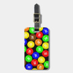 Personalized Fun Colorful Candy Coated Chocolates Bag Tag