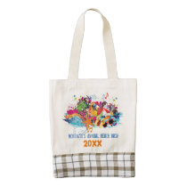 Personalized Fun Colorful Photo Beach Bag