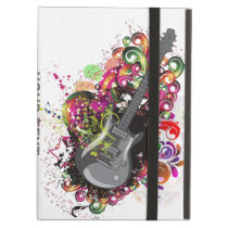 Personalized Fun Colorful retro Guitar ipad cover
