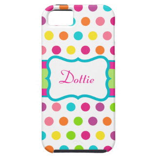Personalized Fun Dots iPhone 5 Case