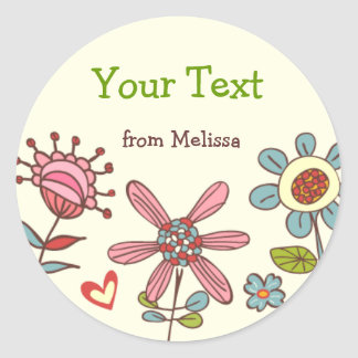 Personalized Fun Flowers Stickers