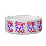 Personalized Fun Rawr Tiger Rawr Bowl Cat Food Bowl