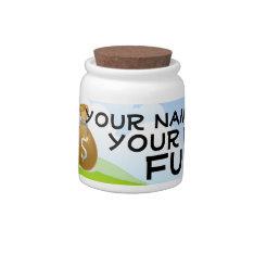 Personalized Fund Money Saving Bank Jar Candy Dish at Zazzle