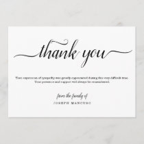 Personalized Funeral Thank You Card with Photo
