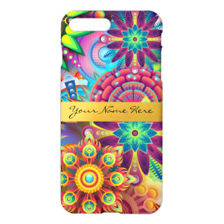 Personalized Funky Boho Floral Flame Mandalas iPhone 7 Plus Case