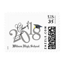 Personalized Funky Class of 2018 Graduation Postage