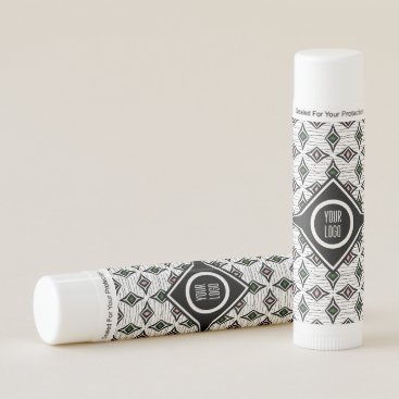 Aztec Themed Personalized funky contemporary diamond design lip balm
