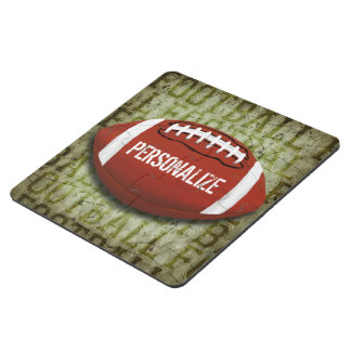 Personalized Funky Green Grunge Football Puzzle Coaster