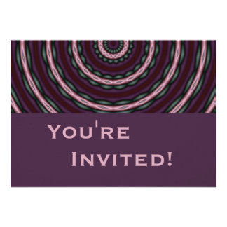 Personalized Funky Purple Birthday Party Personalized Invitations