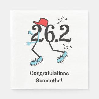 Personalized Funny 26.2 Marathoner Congrats Runner Standard Luncheon Napkin