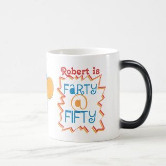 Personalized Funny 50th Birthday Gag Gift Magic Mug