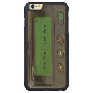Personalized Funny 90s Old School Pager Carved Maple iPhone 6 Plus Bumper Case