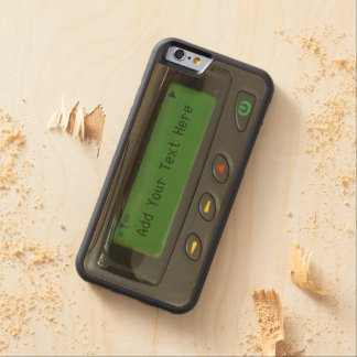 Personalized Funny 90s Old School Pager Carved® Maple iPhone 6 Bumper