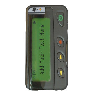 Personalized Funny 90s Old School Pager Barely There iPhone 6 Case