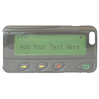 Personalized Funny 90s Old School Pager Clear iPhone 6 Plus Case