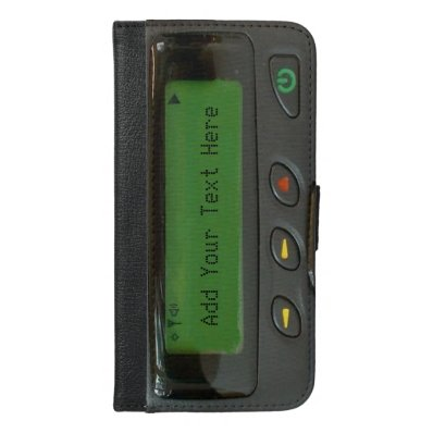 Personalized Funny 90s Old School Pager iPhone 6/6S Plus Wallet Case