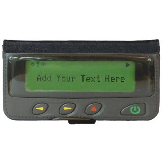Personalized Funny 90s Old School Pager iPhone 6/6s Wallet Case