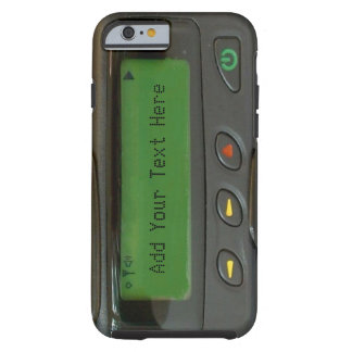 Personalized Funny 90s Old School Pager Tough iPhone 6 Case