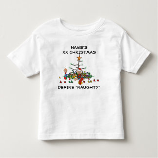 Personalized Funny Baby or Toddler Christmas Toddler T-shirt