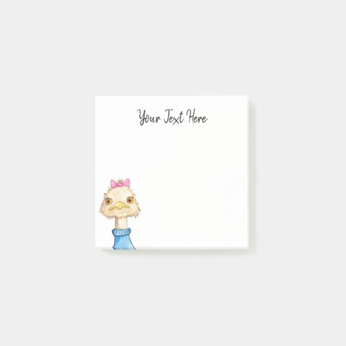 Personalized Funny Bird Drawing Post_it Notes