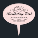 "Personalized Funny Birthday Cake Topper<br><div class=""desc"">Vintage 1944 1945 1946 1947 1948 1949 1950 1951 1952 1953 1954 1955 1956 1957 1958 1959 1960 1961 1962 1963 1964 1965 1966 1967 1968 1969 1970 1971 1972 1973 1974 1975 1976 1977 1978 1979 1980 1981 1982 1983 1984 Aged to Perfection. Funny 30th 31st 32nd 33rd 34th...</div>"