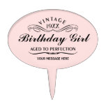 Personalized Funny Birthday Cake Topper<br><div class='desc'>Vintage 1944 1945 1946 1947 1948 1949 1950 1951 1952 1953 1954 1955 1956 1957 1958 1959 1960 1961 1962 1963 1964 1965 1966 1967 1968 1969 1970 1971 1972 1973 1974 1975 1976 1977 1978 1979 1980 1981 1982 1983 1984 Aged to Perfection. Funny 30th 31st 32nd 33rd 34th...</div>