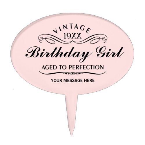 Personalized Funny Birthday Cake Topper