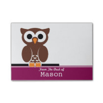 Personalized Funny Brown Owl Post-it Notes
