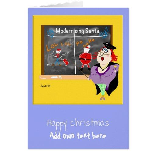 Personalized Funny Christmas Xmas Cartoon Greeting Card