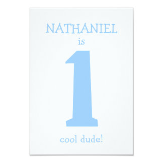 Personalized Funny First Birthday Boy Party Card