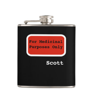 Personalized Funny | For Medicinal Purposes Only Hip Flask