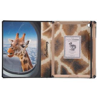 Personalized Funny Giraffe iPad 2/3/4 DODOcase iPad Folio Case