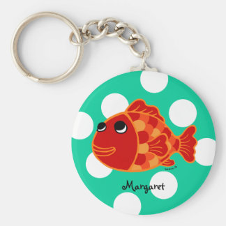 Personalized Funny Goldfish Cartoon Keychain