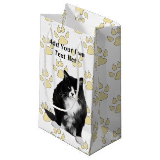 Personalized Funny Grumpy Cat Gift Bags Small Gift Bag