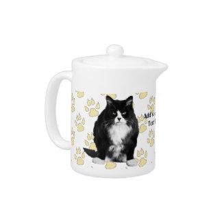 Personalized Funny Grumpy Cat Teapot / Paw Print