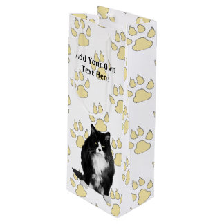 Personalized Funny Grumpy Cat Wine Gift Bags Wine Gift Bag