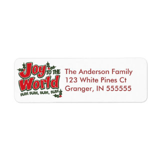 Personalized Funny Joy to the World Address Labels
