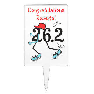 Personalized Funny Marathon Runners 26.2 Cake Topper