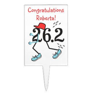 Personalized Funny Marathon Runners 26.2 Cake Pick