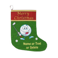 Personalized Funny Merry Christmas Golf Stockings
