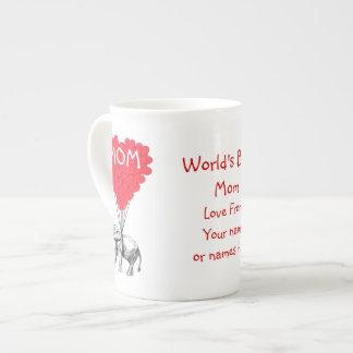 Personalized funny mothers day bone china mugs