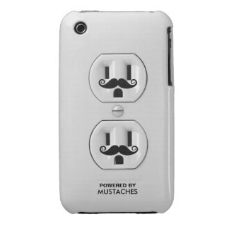 Personalized Funny Mustache Power Outlet Case-Mate iPhone 3 Case
