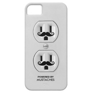 Personalized Funny Mustache Power Outlet iPhone 5 Cases