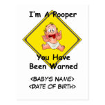 Personalized Funny New Baby Gift Postcard