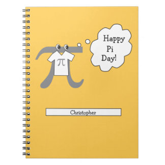 Personalized Funny Pi Guy - Happy Pi Day Spiral Note Book