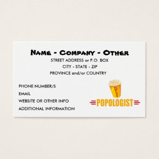 Personalized Funny Popcorn Business Card