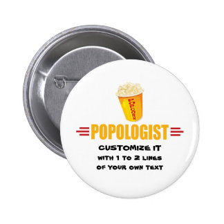 Personalized Funny Popcorn Button